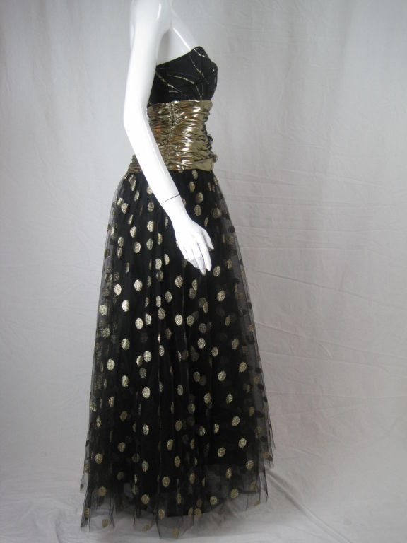 Fred Hayman 1980's Strapless Gown with Matching Shawl-SALE! 3