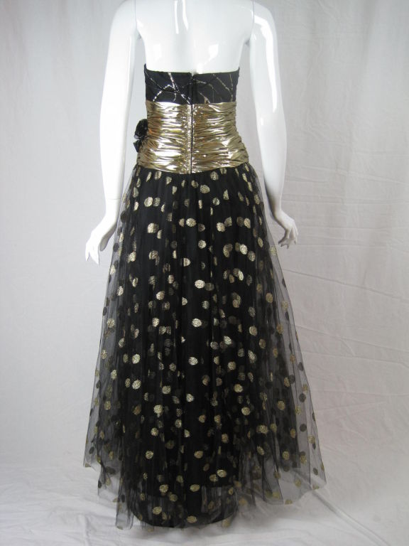 Fred Hayman 1980's Strapless Gown with Matching Shawl-SALE! 4