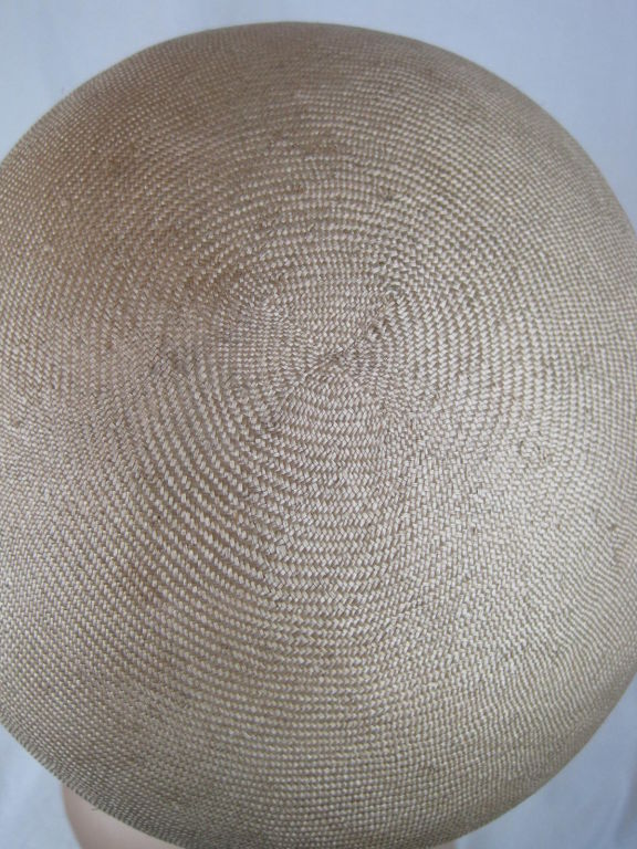 Manuel Pertegaz Numbered 1960's Straw Hat 6