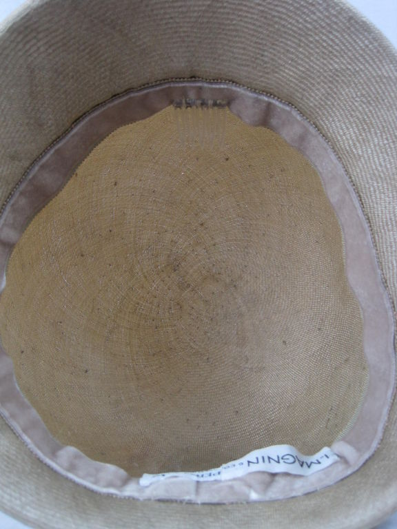 Manuel Pertegaz Numbered 1960's Straw Hat 7