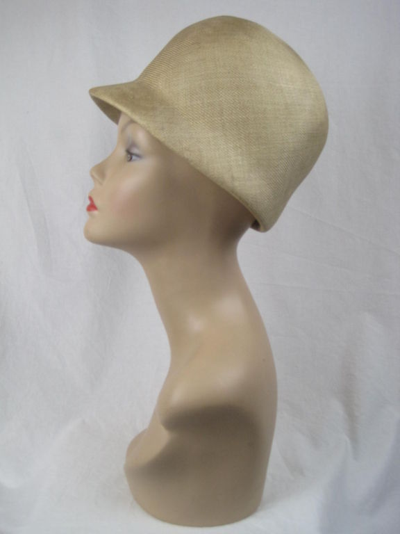 Manuel Pertegaz Numbered 1960's Straw Hat 3
