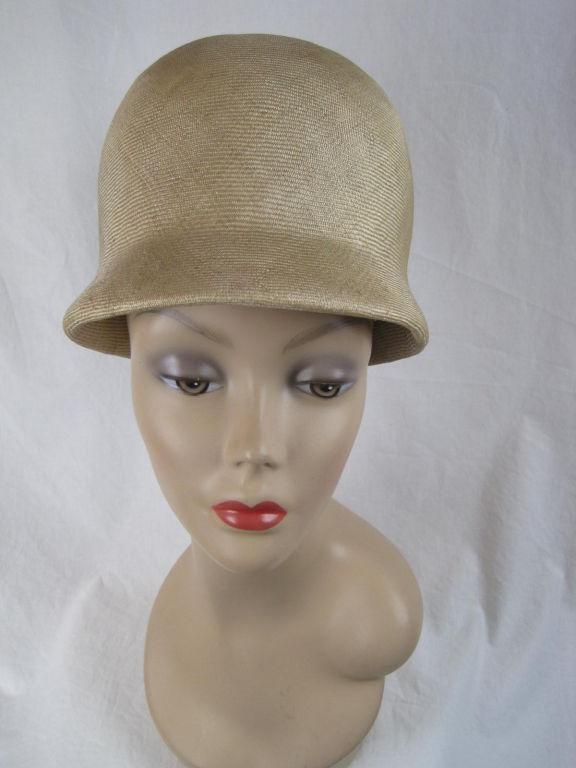 Manuel Pertegaz Numbered 1960's Straw Hat For Sale 3
