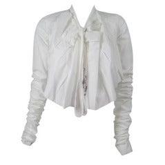 Jean-Paul Gaultier Asymmetrical Cotton Poplin Blouse