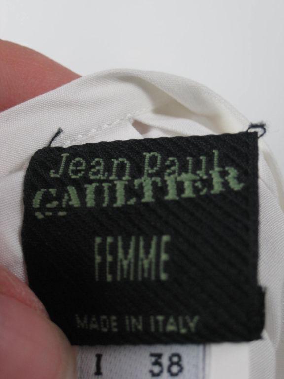 Jean-Paul Gaultier Asymmetrical Cotton Poplin Blouse 10