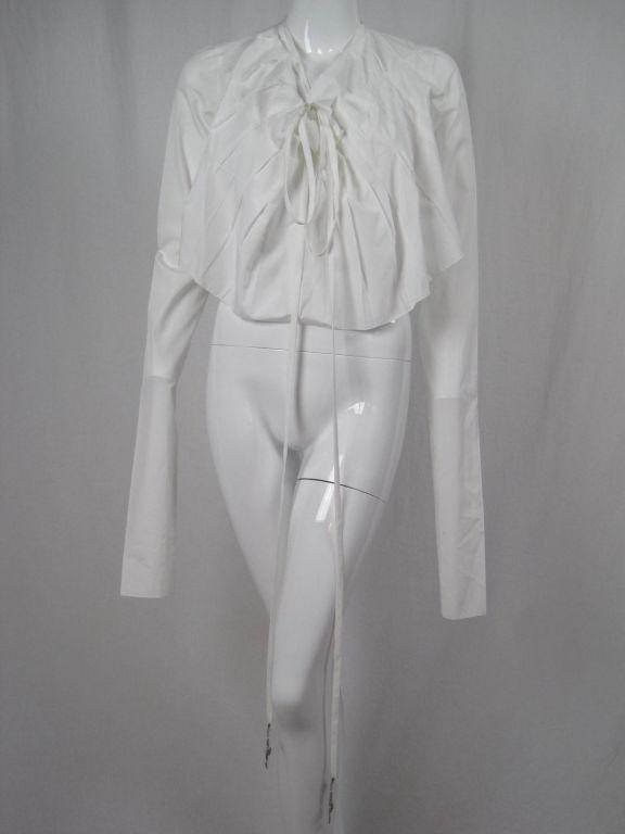 Jean-Paul Gaultier Asymmetrical Cotton Poplin Blouse 2