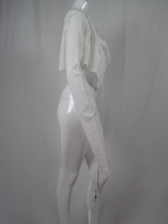 Jean-Paul Gaultier Asymmetrical Cotton Poplin Blouse 3