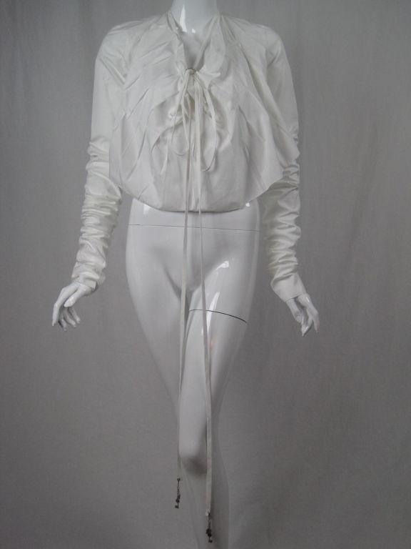 Jean-Paul Gaultier Asymmetrical Cotton Poplin Blouse 5