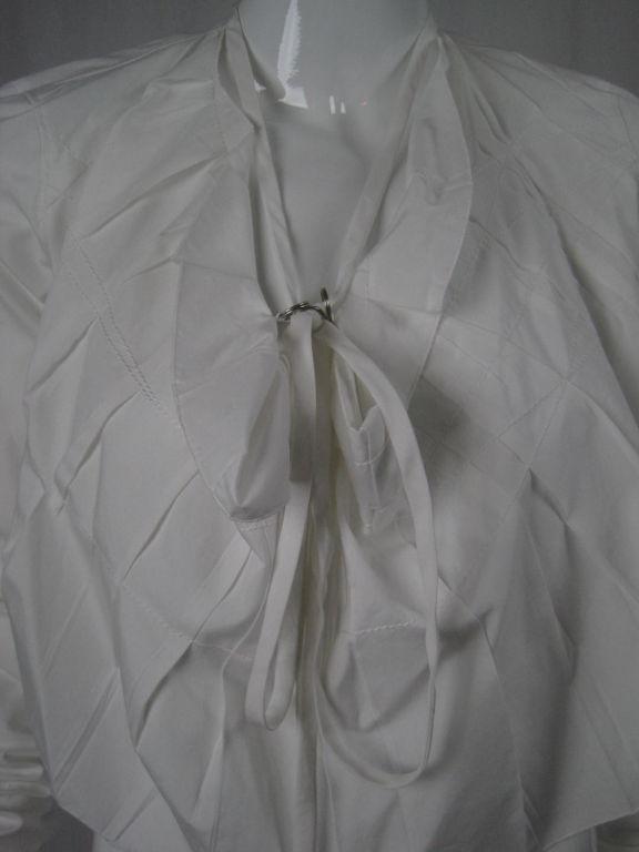 Jean-Paul Gaultier Asymmetrical Cotton Poplin Blouse 6