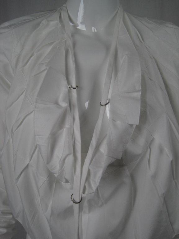 Jean-Paul Gaultier Asymmetrical Cotton Poplin Blouse 7