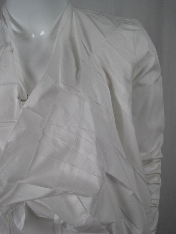 Jean-Paul Gaultier Asymmetrical Cotton Poplin Blouse 8