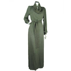Hubert Pinault Silk Gown