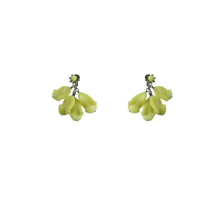 Miriam Haskell Glass Earrings 1