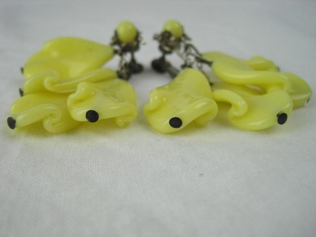 Miriam Haskell Glass Earrings 6