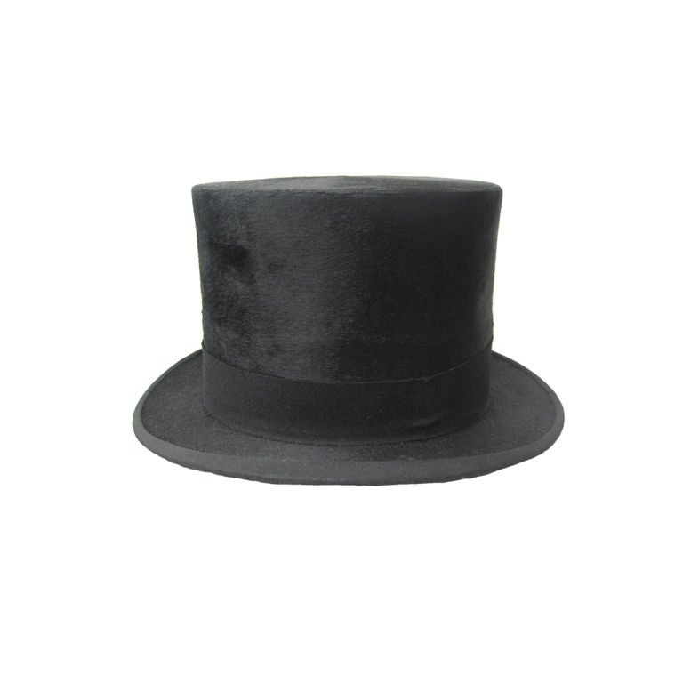Early 1900's Silk Top Hat For Sale
