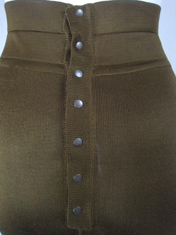 Azzedine Alaia Brown Knit Pencil Skirt 5