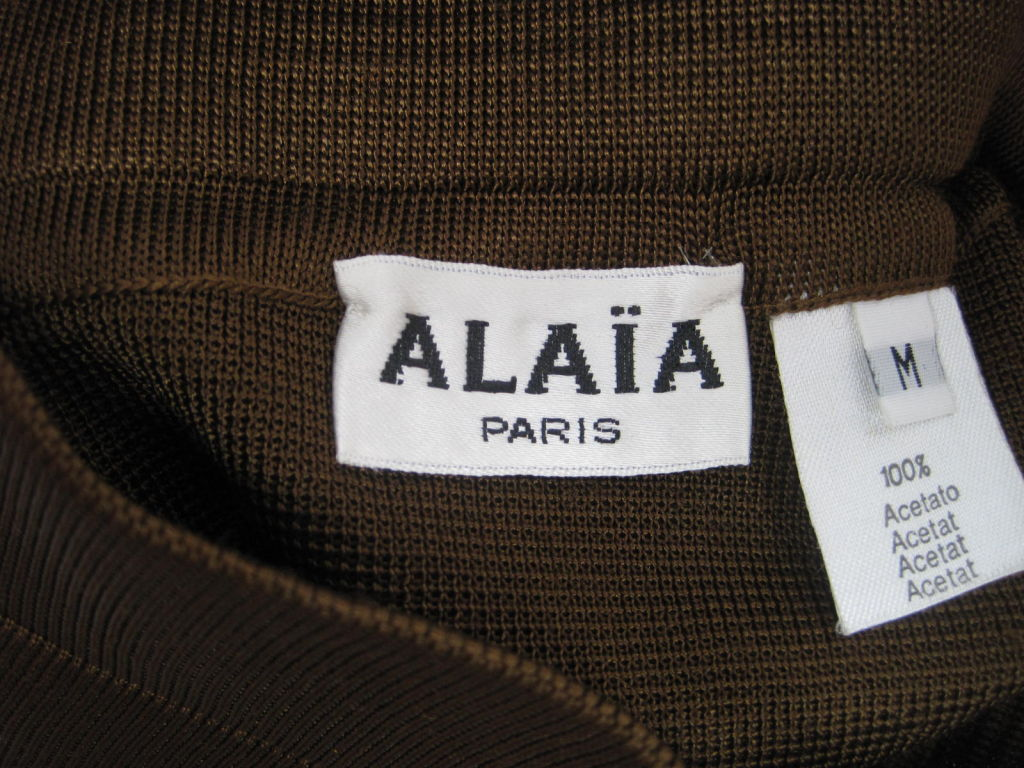 Azzedine Alaia Brown Knit Pencil Skirt 6