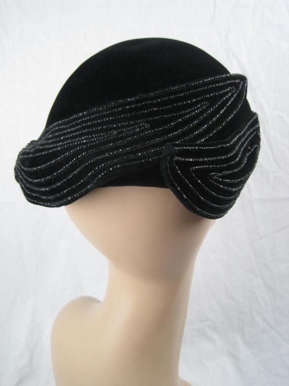 1940's French Beaded Toque 4
