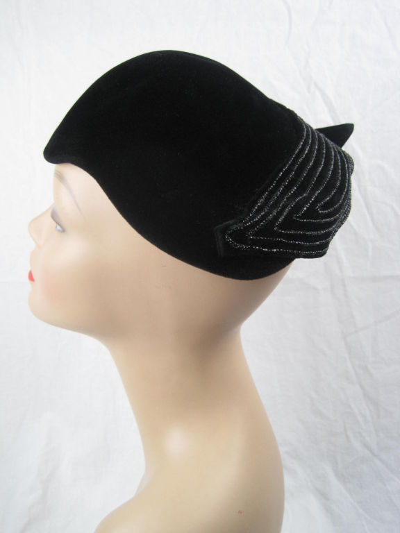 1940's French Beaded Toque 5