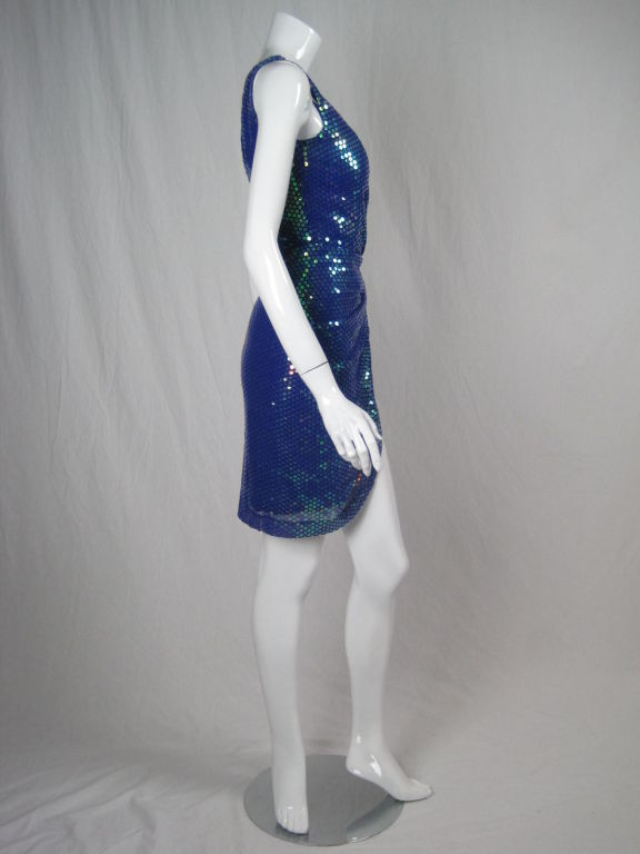 Vicky Tiel Couture Sequins Covered Dress In Excellent Condition For Sale In Los Angeles, CA