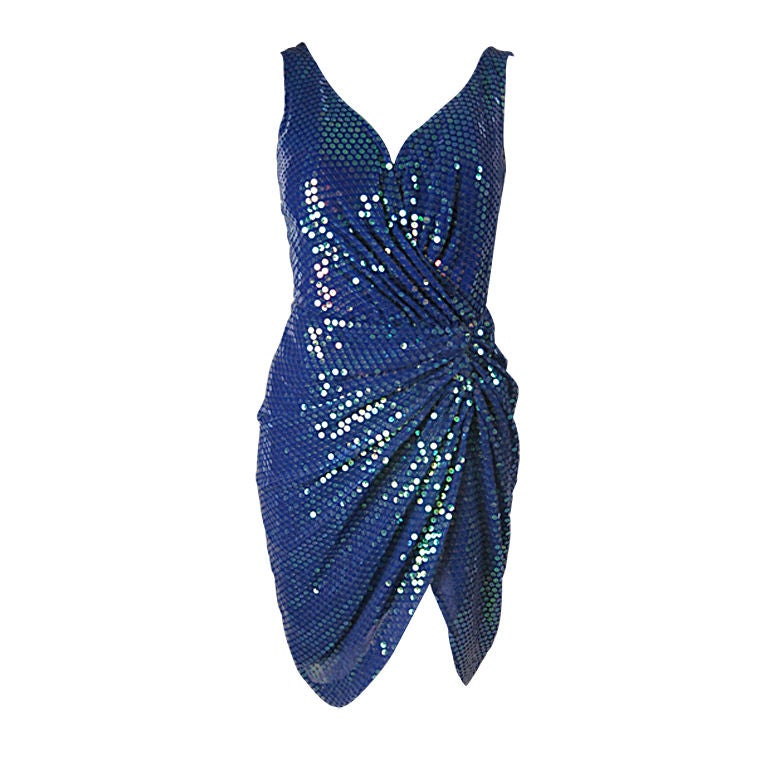 Vicky Tiel Couture Sequins Covered Dress 1
