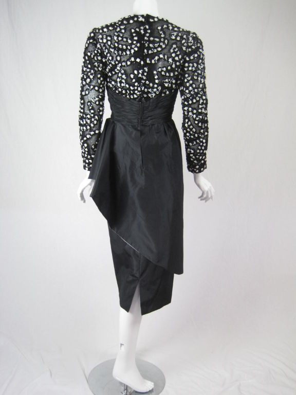 1980 39 s french couture cocktail dress at 1stdibs for French couture dresses