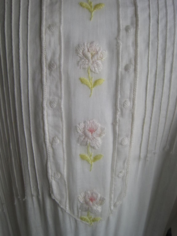 Edwardian Lawn Dress with Pintucks and Lace Insets 8