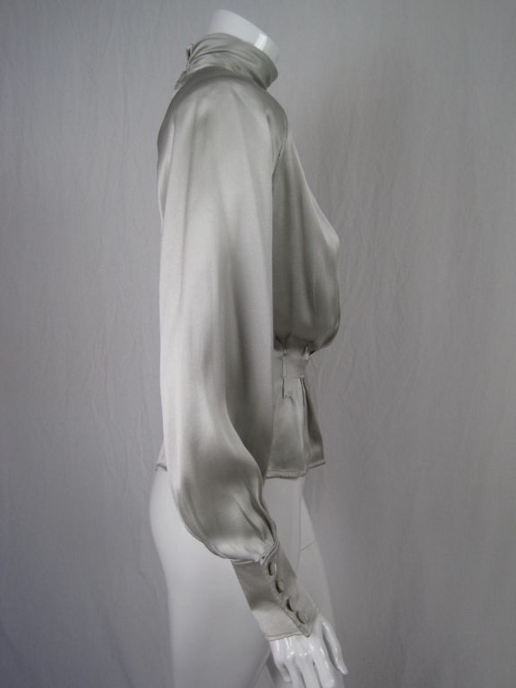 Ungaro Silk Charmeuse Evening Blouse 2
