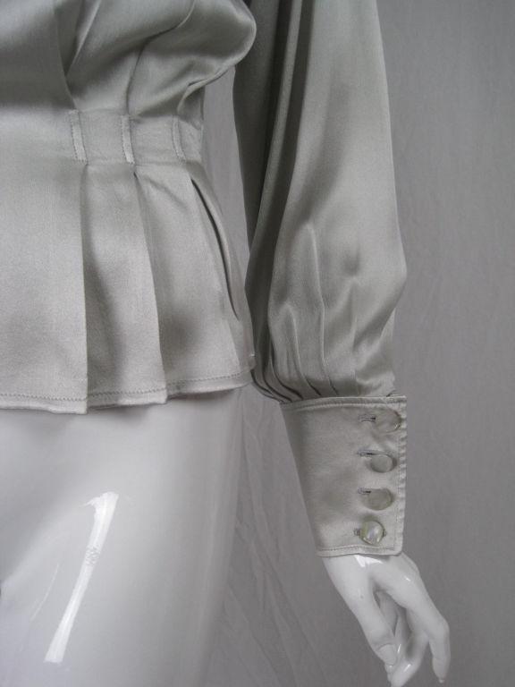Ungaro Silk Charmeuse Evening Blouse 4