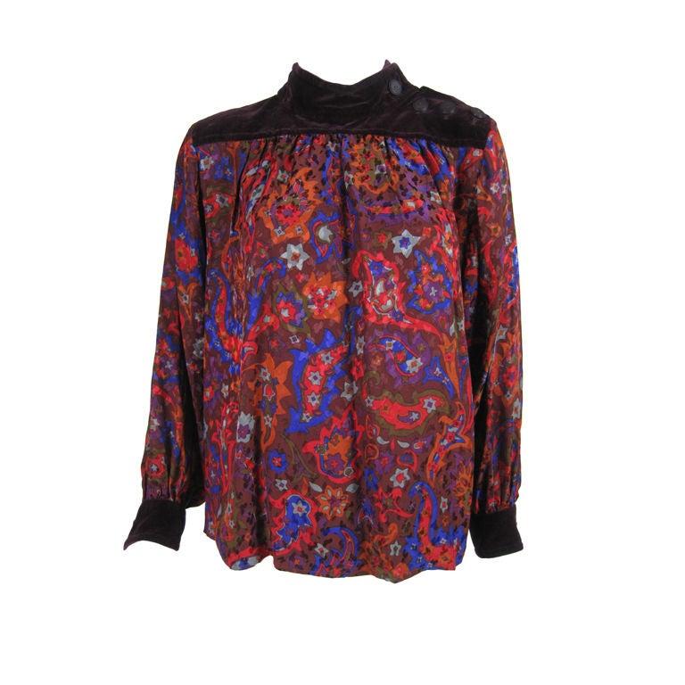 Silk Velvet Blouse 103