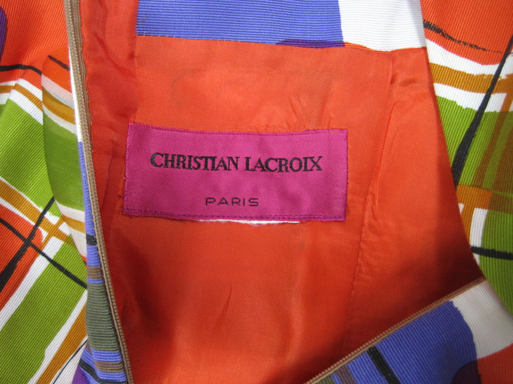 Christian Lacroix Colorful Cocktail Dress 9