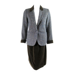 YSL 1970's Tweed and Corduroy Suit