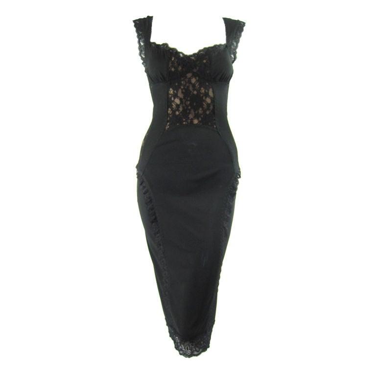 Dolce & Gabbana Lace Cocktail Dress