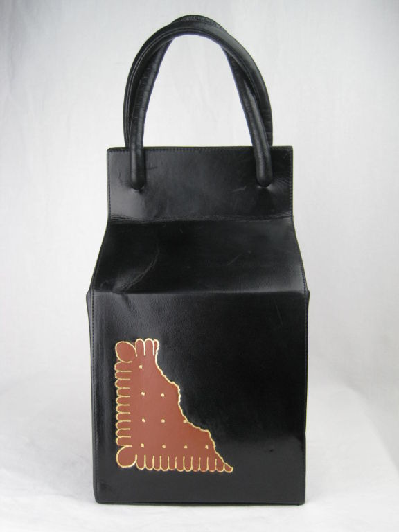 Rare Isabel Canovas Milk Carton & Cookie Handbag 2