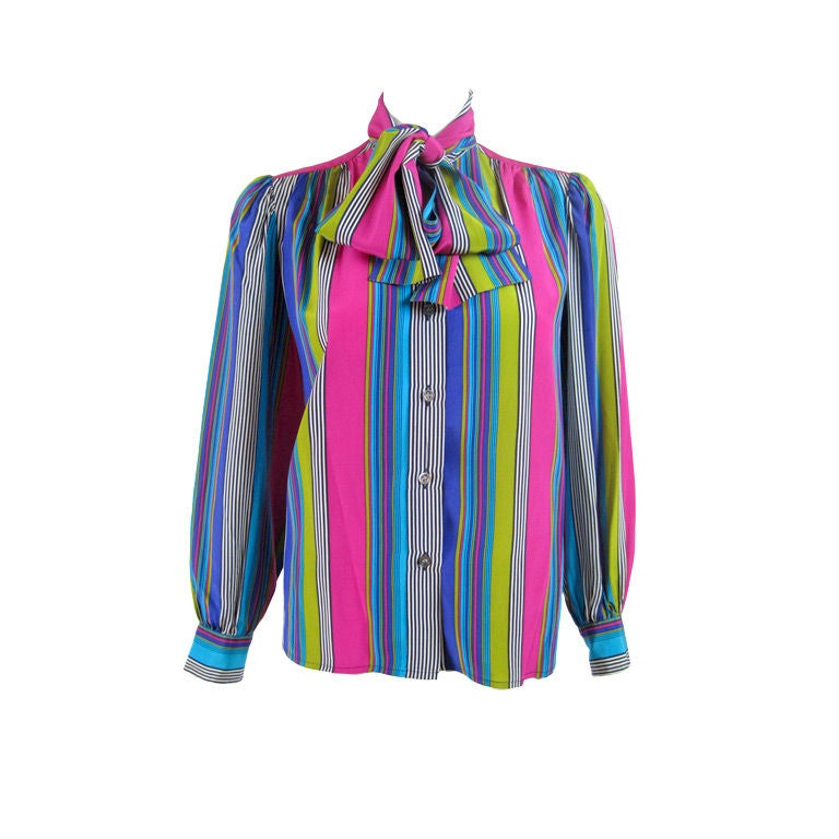 YSL Silk Striped Blouse