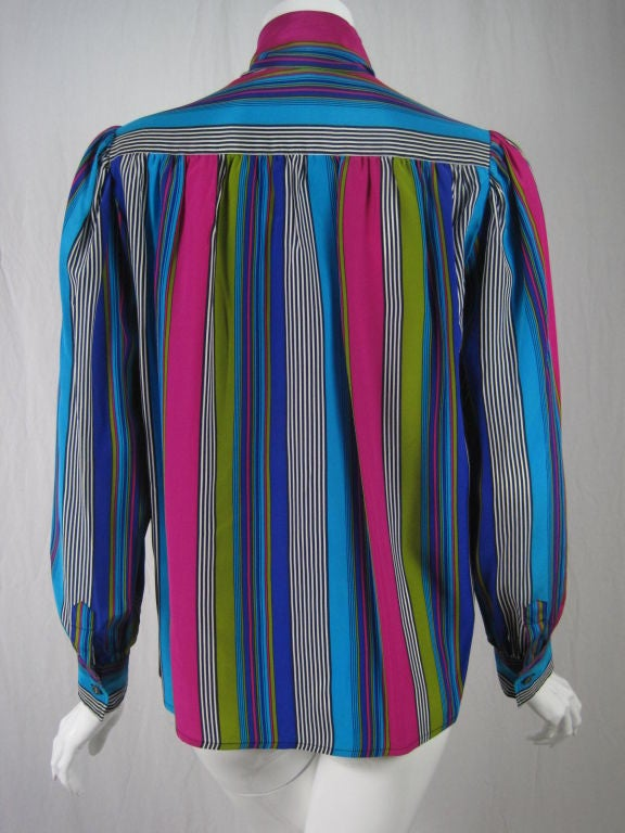 YSL Silk Striped Blouse image 3