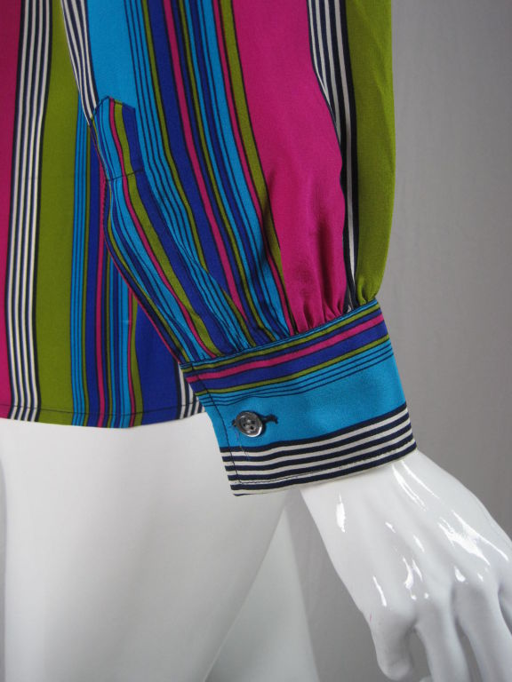 YSL Silk Striped Blouse image 4