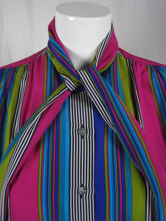 YSL Silk Striped Blouse image 5