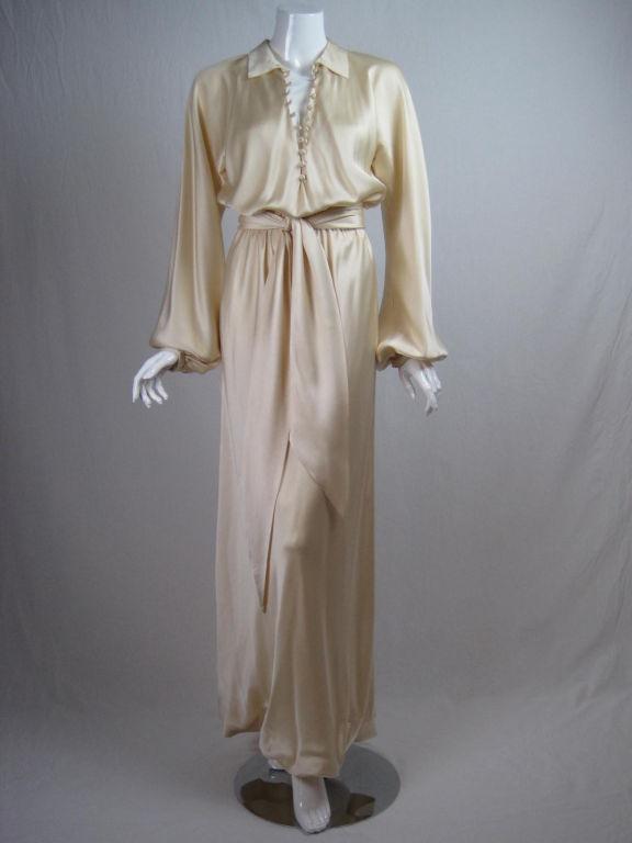 Halston Silk Charmeuse Bias Cut Gown 2