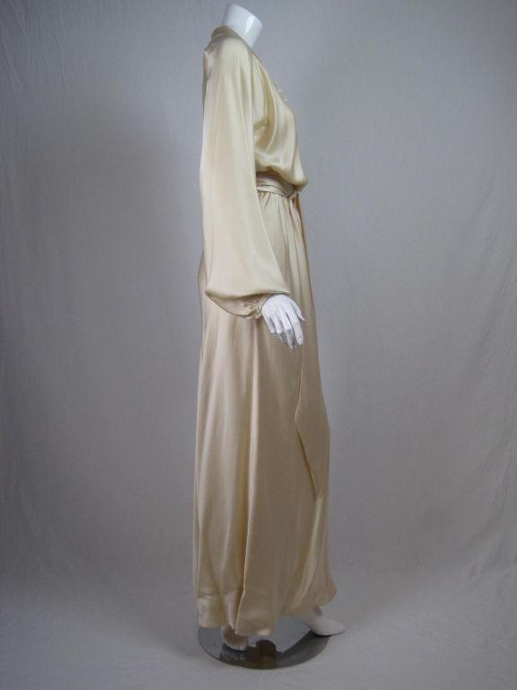 Halston Silk Charmeuse Bias Cut Gown 3