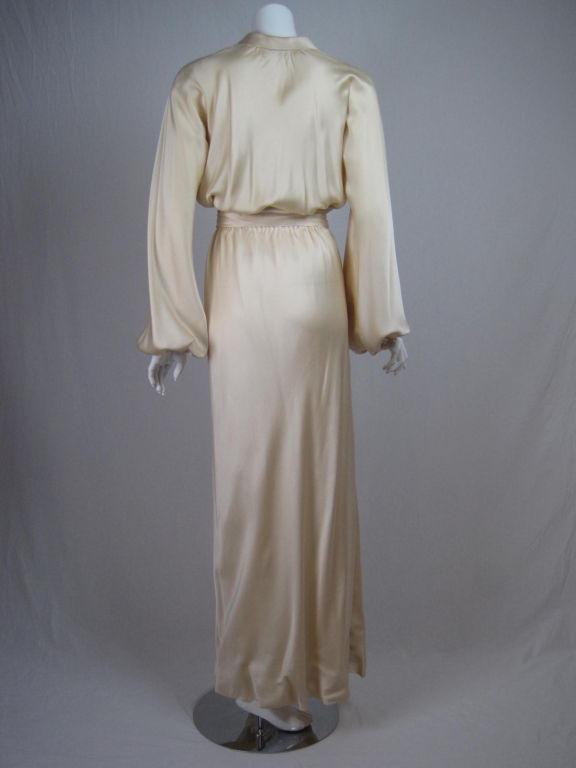 Halston Silk Charmeuse Bias Cut Gown 4