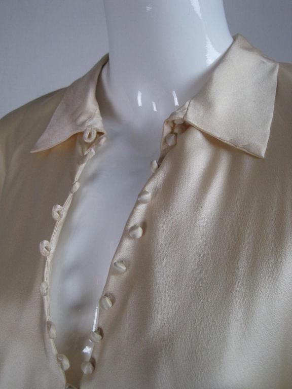 Halston Silk Charmeuse Bias Cut Gown 5