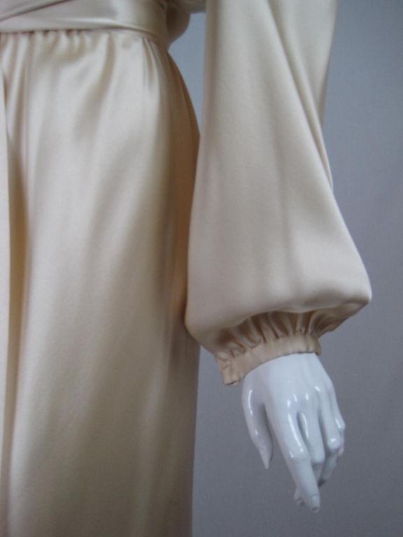 Halston Silk Charmeuse Bias Cut Gown 6