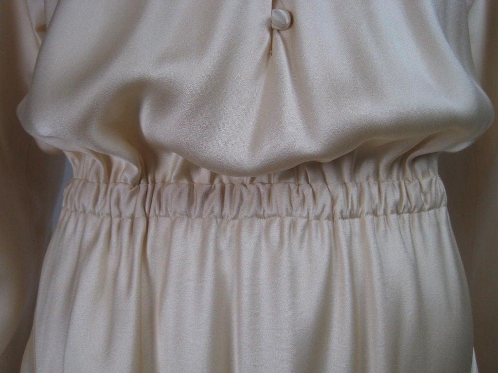 Halston Silk Charmeuse Bias Cut Gown 7