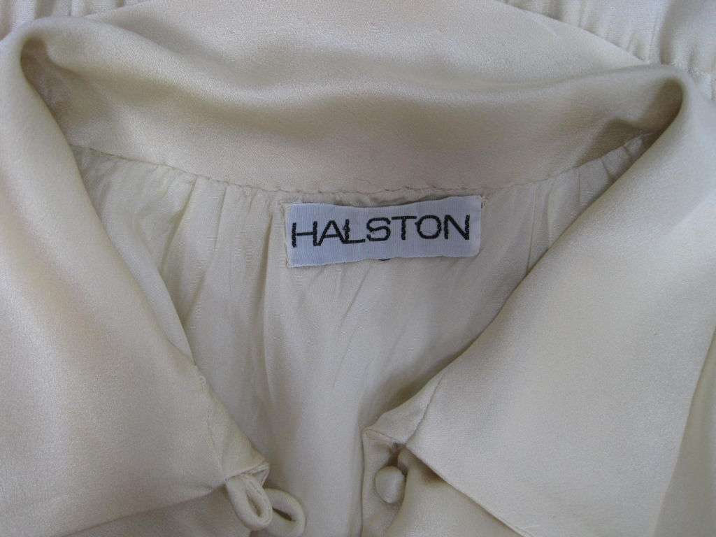 Halston Silk Charmeuse Bias Cut Gown 8