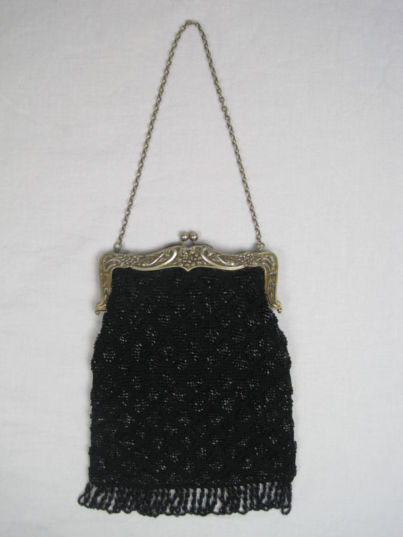 antique beaded purse with art nouveau frame at 1stdibs