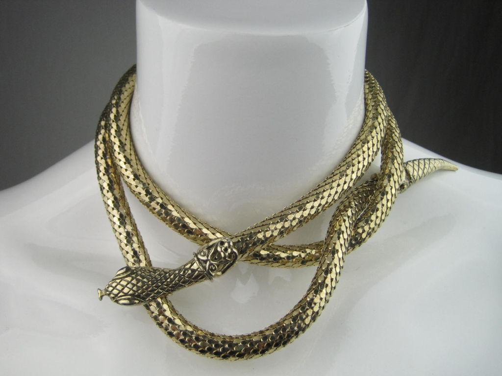 Whiting And Davis Snake Mesh Belt Or Necklace At 1stdibs