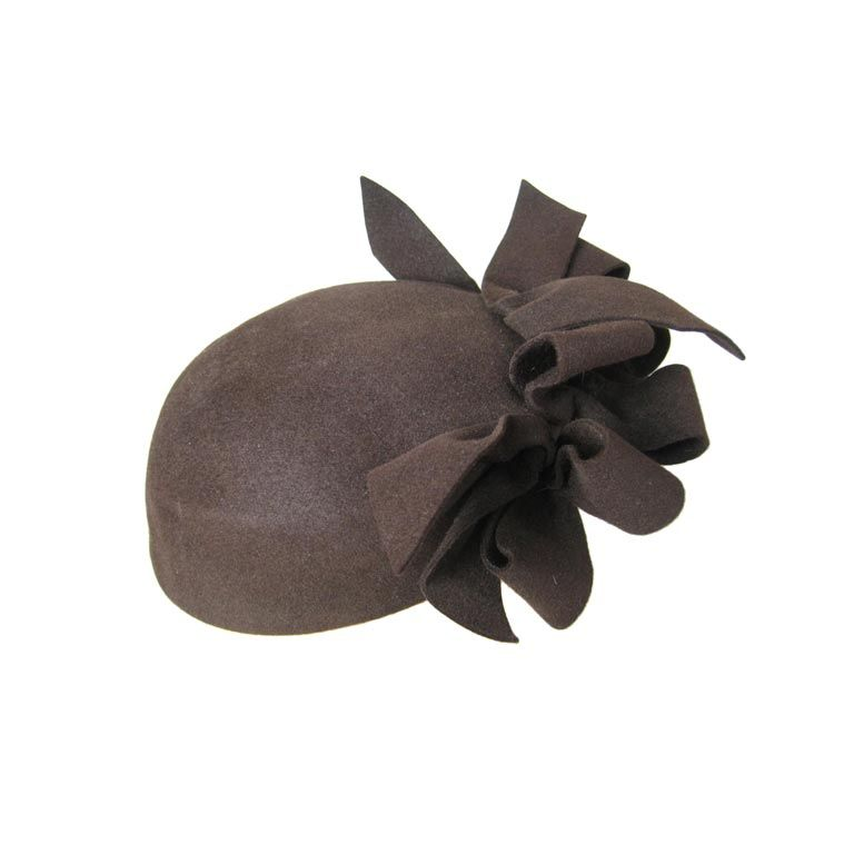 1930's Brown Felt Hat with Looped Detail-SALE! 1