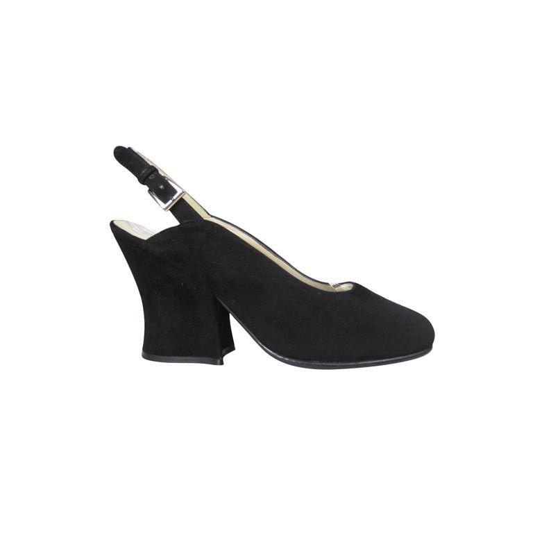 Classic Prada Black Suede Heels-SALE! 1