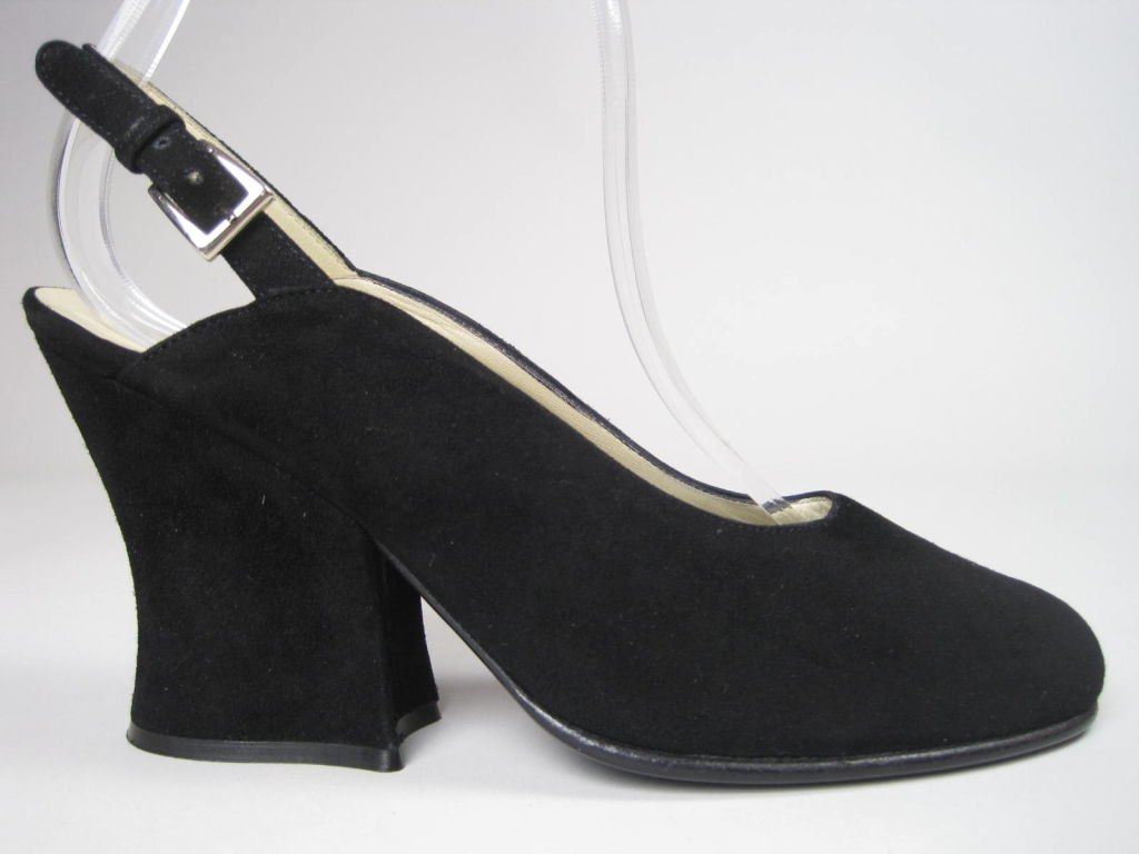 Classic Prada Black Suede Heels-SALE! 2