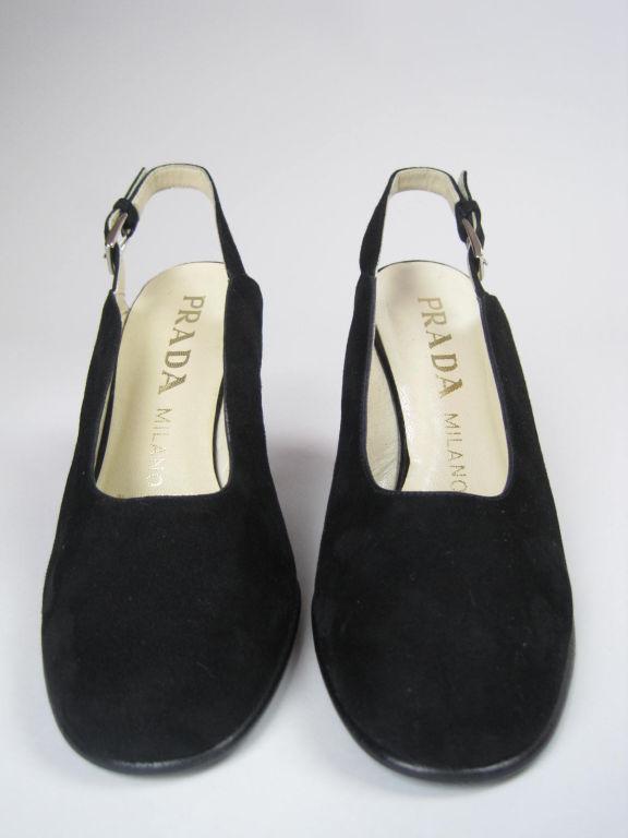 Classic Prada Black Suede Heels-SALE! 3